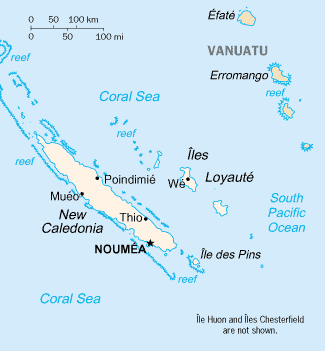 Map of New Caledonia