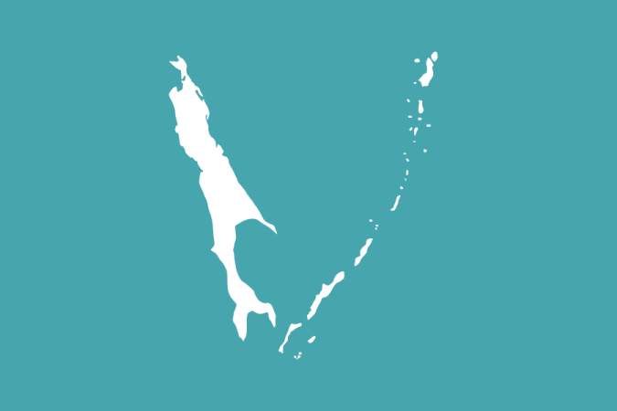 Flag of the Sakhalin Oblast, where the Kuril Islands are officially administered by Russia